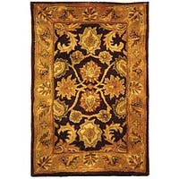 Safavieh Handmade Classic Regal Dark Plum/ Gold Wool Rug - 2' x 3'