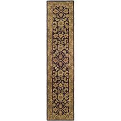 Safavieh Handmade Classic Regal Dark Plum/ Gold Wool Runner (2'3 x 8')