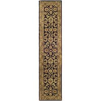 Safavieh Handmade Classic Regal Dark Plum/ Gold Wool Runner (2'3 x 8')