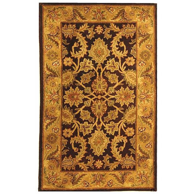 Safavieh Handmade Classic Regal Dark Plum/ Gold Wool Runner (2'3 x 4')