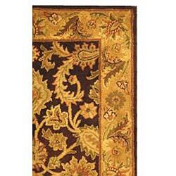 Safavieh Handmade Classic Regal Dark Plum/ Gold Wool Runner (2'3 x 4') - Thumbnail 1