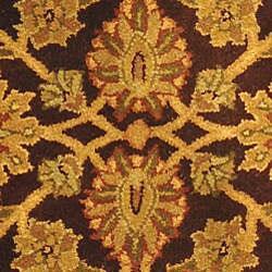 Safavieh Handmade Classic Regal Dark Plum/ Gold Wool Runner (2'3 x 4') - Thumbnail 2