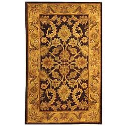 Safavieh Handmade Classic Regal Dark Plum/ Gold Wool Runner (2'3 x 4') - Thumbnail 0