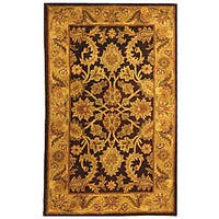 Safavieh Handmade Classic Regal Dark Plum/ Gold Wool Rug - 3' x 5'