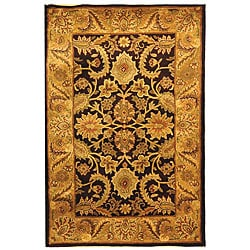 Safavieh Handmade Classic Regal Dark Plum/ Gold Wool Rug (4' x 6')