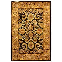 Safavieh Handmade Classic Regal Dark Plum/ Gold Wool Rug - 4' x 6'