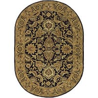 Safavieh Handmade Classic Regal Dark Plum/ Gold Wool Rug (4'6 x 6'6 Oval) - 4'6 x 6'6 Oval