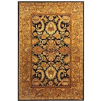 Safavieh Handmade Classic Regal Dark Plum/ Gold Wool Rug - 7'6 x 9'6
