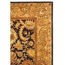 Safavieh Handmade Classic Regal Dark Plum/ Gold Wool Rug (8'3 x 11') - Thumbnail 1