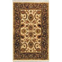 Safavieh Handmade Classic Jaipur Ivory/ Red Wool Rug (5' x 8')