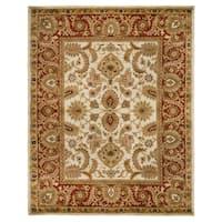 Safavieh Handmade Classic Jaipur Ivory/ Red Wool Rug - 5' x 8'