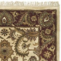 Safavieh Handmade Classic Jaipur Ivory/ Red Wool Rug (6' x 9') - Thumbnail 1