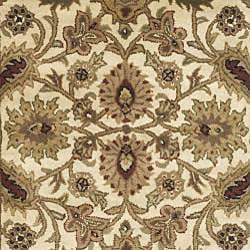 Safavieh Handmade Classic Jaipur Ivory/ Red Wool Rug (6' x 9') - Thumbnail 2