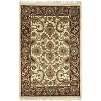 Safavieh Handmade Classic Jaipur Ivory/ Red Wool Rug - 3' x 5'