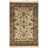 Safavieh Handmade Classic Jaipur Ivory/ Red Wool Rug - 4' x 6'