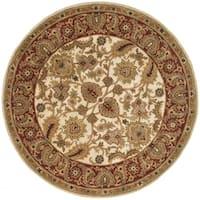 Safavieh Handmade Classic Jaipur Ivory/ Red Wool Rug - 6' x 6' Round