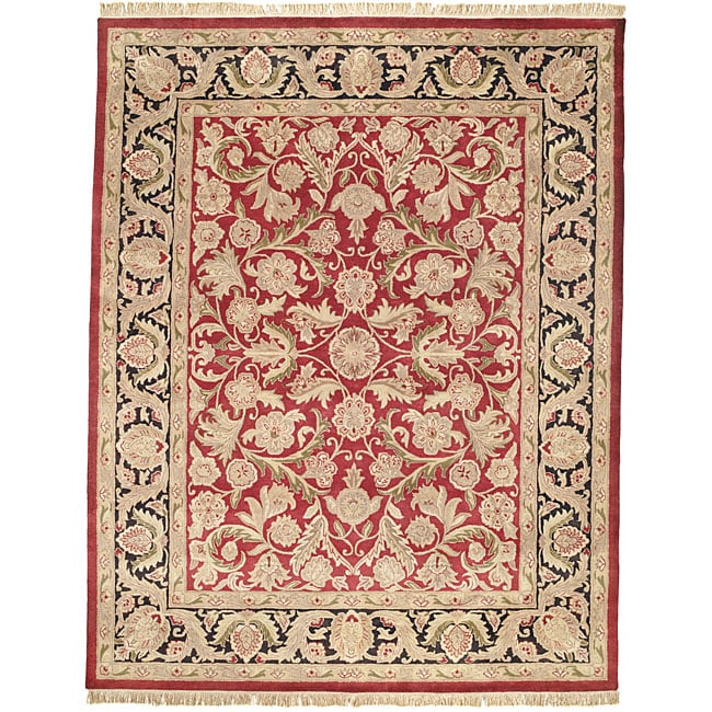 Safavieh Handmade Sari Red/ Black Wool Rug (8'3 x 11')