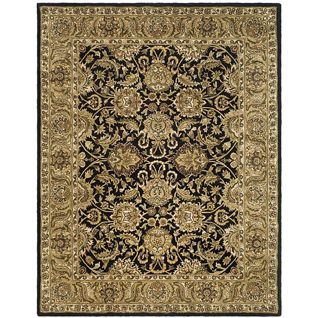 Safavieh Handmade Traditions Black/ Light Brown Wool Rug (5' x 8')