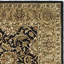 Safavieh Handmade Traditions Black/ Light Brown Wool Rug (5' x 8') - Thumbnail 1