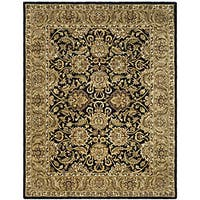Safavieh Handmade Traditions Black/ Light Brown Wool Rug - 5' x 8'