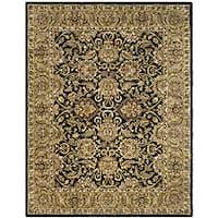 Safavieh Handmade Traditions Black/ Light Brown Wool Rug (5' x 8')