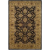 Safavieh Handmade Traditions Black/ Light Brown Wool Rug - 6' x 9'