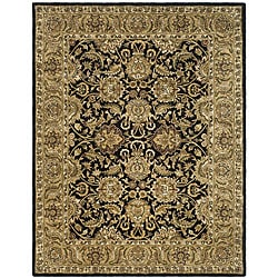 Safavieh Handmade Traditions Black/ Light Brown Wool Rug (7'6 x 9'6)