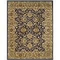 Safavieh Handmade Traditions Black/ Light Brown Wool Rug - 7'6 x 9'6