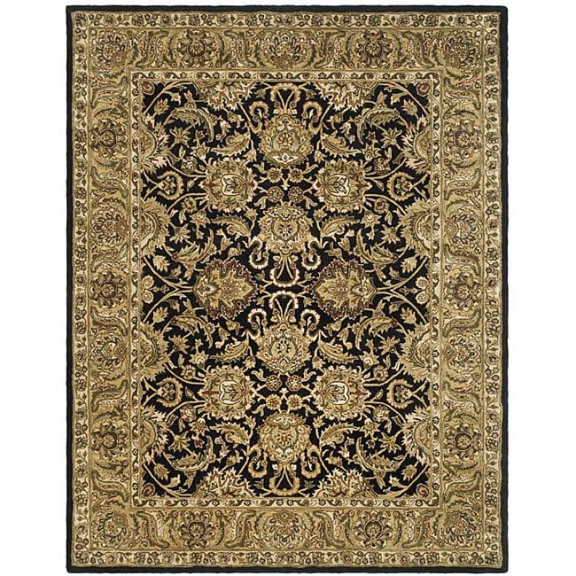 Safavieh Handmade Traditions Black/ Light Brown Wool Rug - 8'3 x 11'