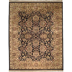 Safavieh Handmade Traditions Black/ Light Brown Wool Rug (8'3 x 11')