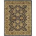Safavieh Handmade Traditions Black/ Light Brown Wool Rug (8'3 x 11') - 8'3 x 11'
