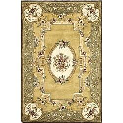 Safavieh Handmade Classic Light Gold/ Green Wool Rug - 7'6 x 9'6 - Thumbnail 0