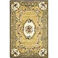 Safavieh Handmade Classic Light Gold/ Green Wool Rug - 7'6 x 9'6