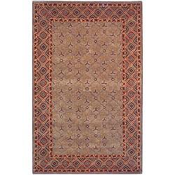 Safavieh Handmade Classic Tress Slate Wool Rug (5' x 8')