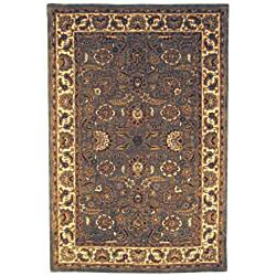 Safavieh Handmade Classic Heirloom Light Blue Wool Rug (9'6 x 13'6) - Thumbnail 2