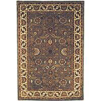 Safavieh Handmade Classic Heirloom Light Blue Wool Rug - 7'6 x 9'6