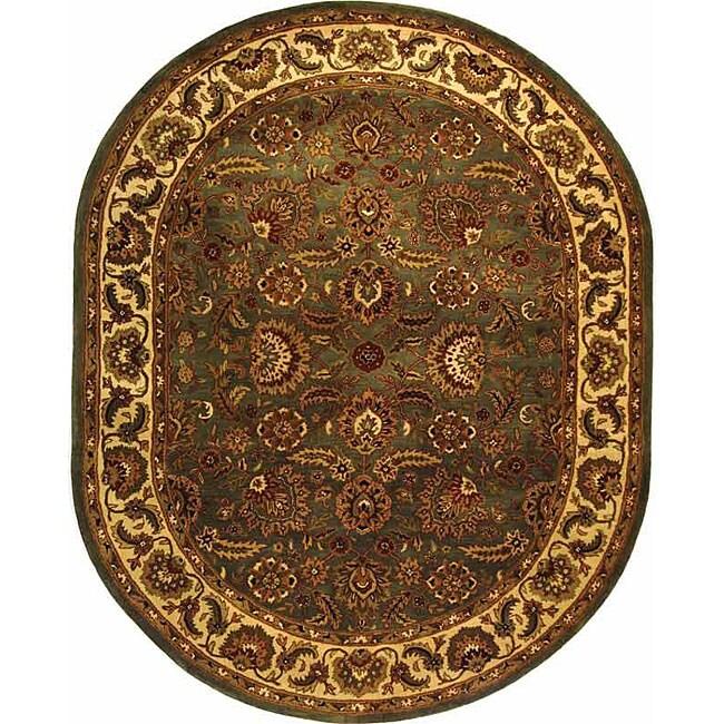 Safavieh Handmade Classic Heirloom Light Blue Wool Rug (4
