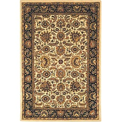 Safavieh Handmade Classic Heirloom Ivory/ Navy Wool Rug - 7'6 x 9'6 - Thumbnail 0