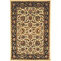 Safavieh Handmade Classic Heirloom Ivory/ Navy Wool Rug - 7'6 x 9'6
