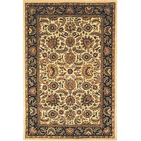 Safavieh Handmade Classic Heirloom Ivory/ Navy Wool Rug (8'3 x 11')