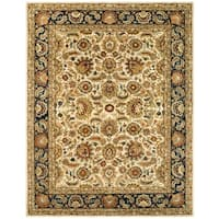 "Safavieh Handmade Classic Heirloom Ivory/ Navy Wool Rug - 8'-3"" x 11'"