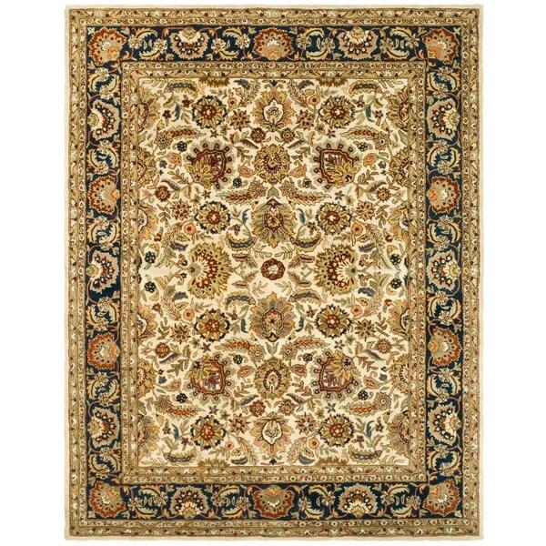 "Safavieh Handmade Classic Heirloom Ivory/ Navy Wool Rug - 8'-3"" x 11'"