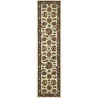 Safavieh Handmade Classic Heirloom Ivory/ Navy Wool Runner (2'3 x 10')