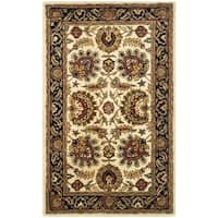 Safavieh Handmade Classic Heirloom Ivory/ Navy Wool Rug - 3' x 5'