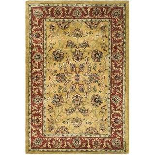 Safavieh Handmade Amol Gold/ Red Wool Rug (5' x 8')