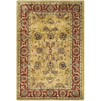 Safavieh Handmade Amol Gold/ Red Wool Rug - 5' x 8'
