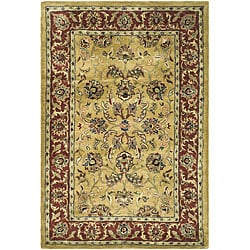 Safavieh Handmade Amol Gold/ Red Wool Rug (3' x 5')