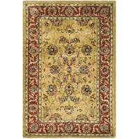 Safavieh Handmade Amol Gold/ Red Wool Rug - 4' x 6'