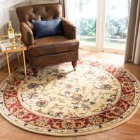 "Safavieh Handmade Amol Gold/ Red Wool Rug - 3'6"" x 3'6"" round"