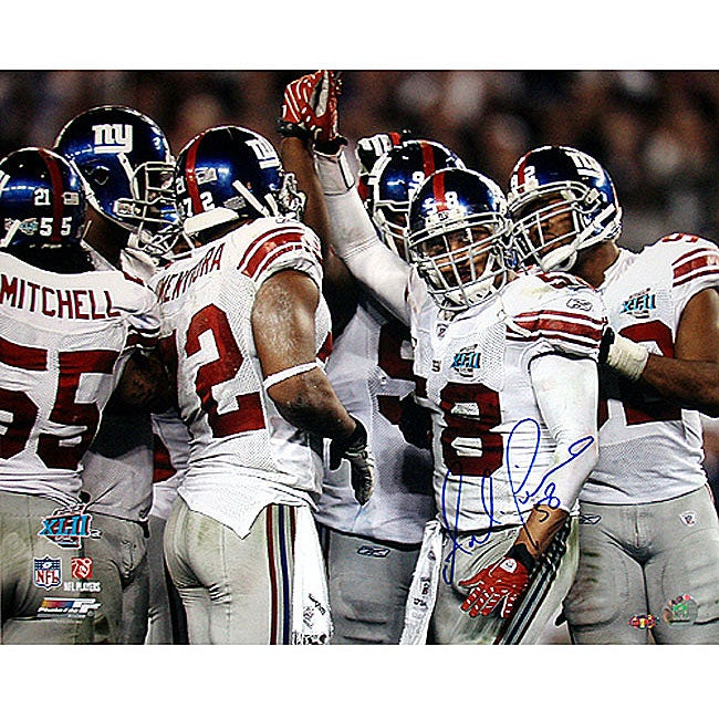 Antonio Pierce Hand-signed Super Bowl XLII Huddle 8x10 Photo - Thumbnail 0